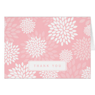 Pink Chrysanthemums Floral Pattern Stationery Note Card