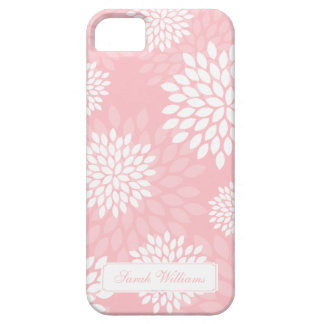 Pink Chrysanthemums Floral Pattern iPhone SE/5/5s Case