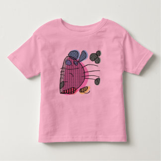 Pink chubby bunny playing drums kid's T-shirt
