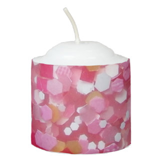 pink-chunk votive candle