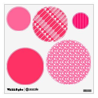 Pink Circle Dots Wall Sticker