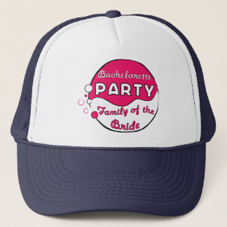 Pink Circle Family of the Bride Bachelorette Party Trucker Hat