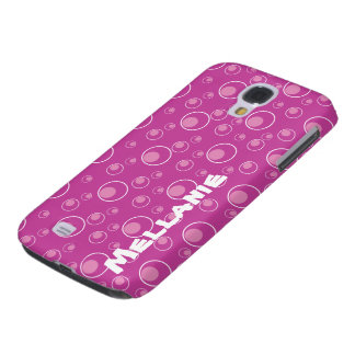 Pink Circle Pattern Grily HTC Vivid Cell Case Galaxy S4 Cover