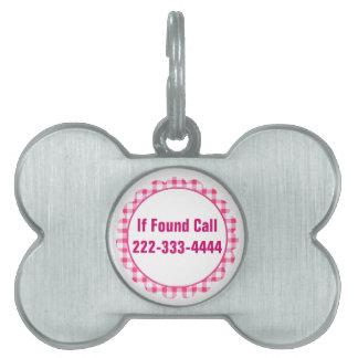 Pink Circle Pet ID Tag