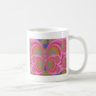 PINK Circle Waves full of Love n Warm Energy: GIFT Coffee Mug