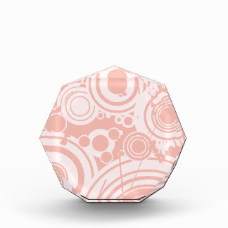 Pink Circles Acrylic Award