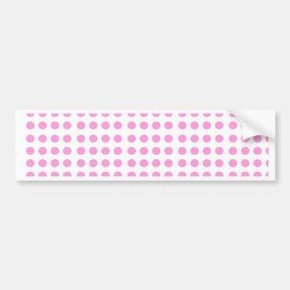 Pink Circles Bumper Sticker
