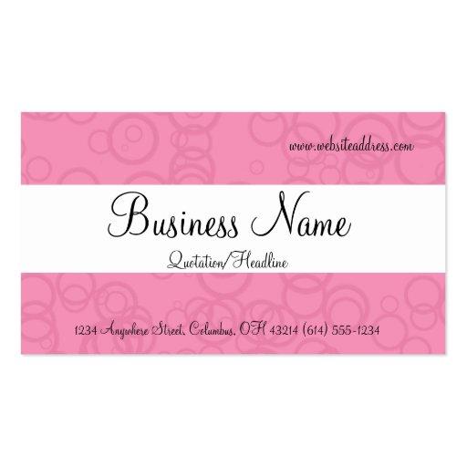 Pink Circles Business Cards