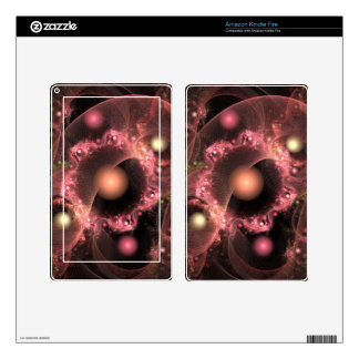 Pink Circles in Space Fractal Art Gifts Skins For Kindle Fire