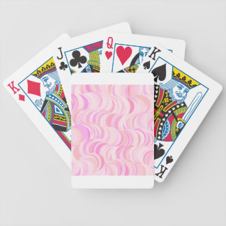 Pink Circles Pattern Bicycle Playing Cards