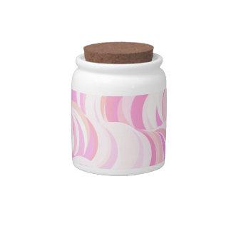 Pink Circles Pattern Candy Dish