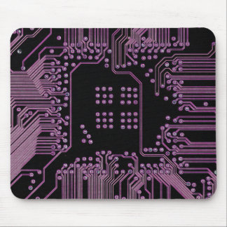 Pink Circuit Board Mouse Pad
