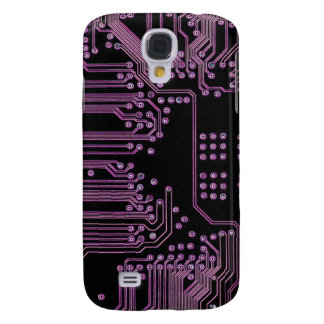 Pink Circuit Board Samsung Galaxy S4 Cover