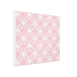 Pink Circular Pattern Canvas Print