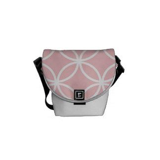 Pink Circular Pattern Courier Bag