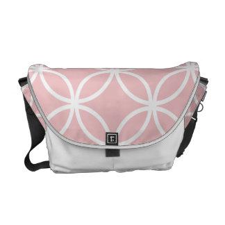 Pink Circular Pattern Messenger Bag