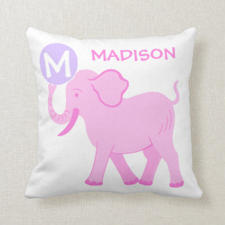 Pink Circus | Baby Girl Nursery Cute Reversible Throw Pillow