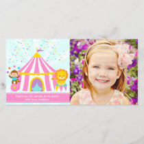 Pink Circus Carnival Personalized Thank You