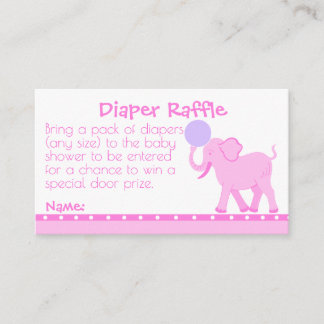 Pink Circus | Girly Baby Shower Diaper Raffle Enclosure Card