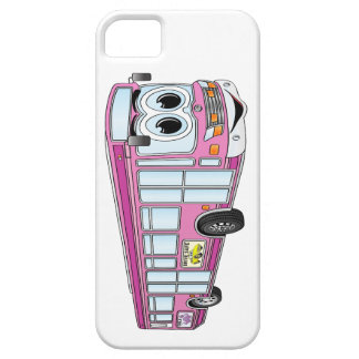 Pink City Bus Cartoon iPhone SE/5/5s Case