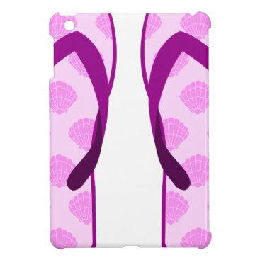 Pink Clam Flip Flops iPad Mini Cases