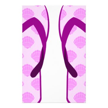 Pink Clam Flip Flops Stationery