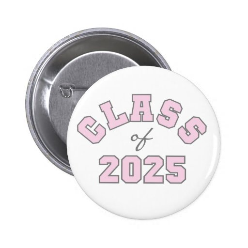 Pink Class of 2025 2 Inch Round Button
