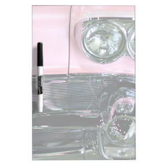 Pink Classic Car Dry Erase Board