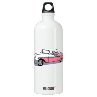PINK CLASSIC CAR WATER BOTTLE