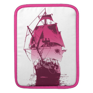 Pink Classic Ship Sleeves For iPads