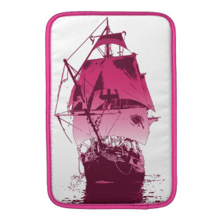 Pink Classic Ship Sleeve For MacBook Air