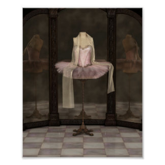 Pink Classical Ballet Tutu Reflections Poster