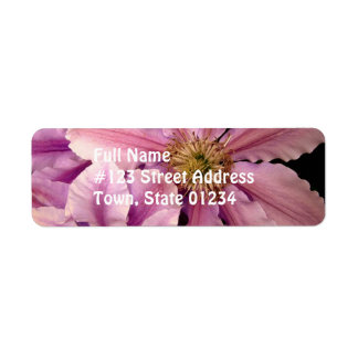 Pink Clematis Mailing Label