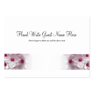 Pink Clematis - Place Cards Business Card Templates