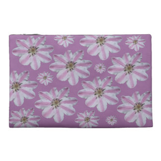 Pink Clematis Travel Accessory Bag