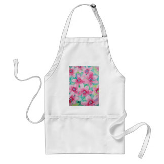 Pink Clematis Watercolor Painting Adult Apron