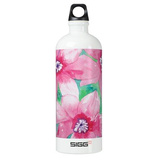 Pink Clematis Watercolor Painting SIGG Traveler 1.0L Water Bottle