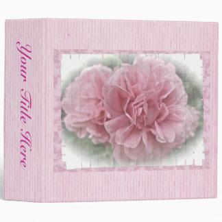 Pink Climbing Rose Blossoms Binder