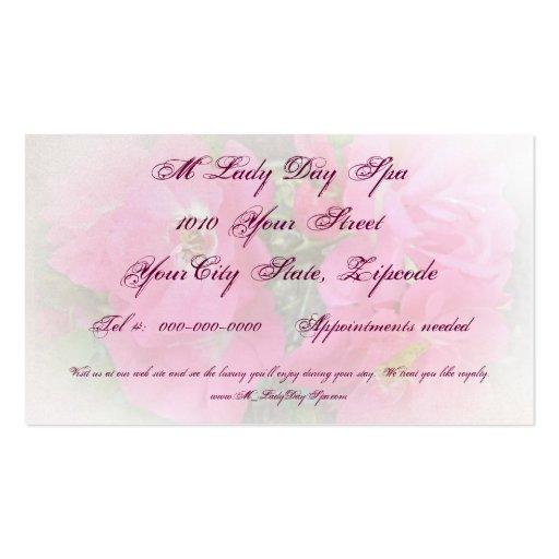 Pink Climbing Rose Business Card