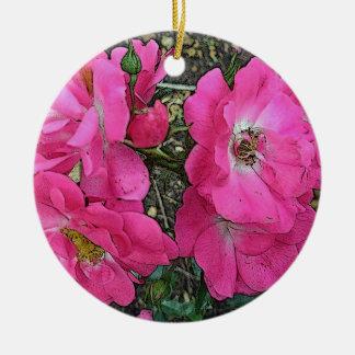 Pink Climbing Rose Ornament