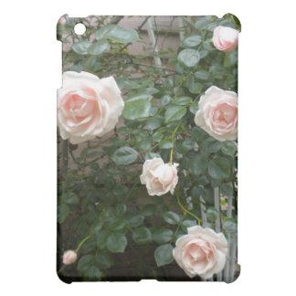 Pink climbing roses iPad case