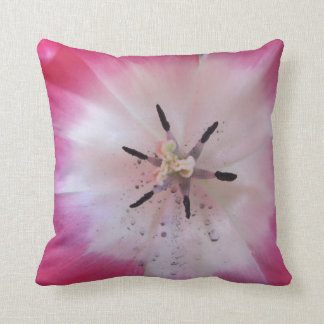 Pink close up Tulip American MoJo Pillow