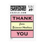 PINK CLOUD Custom Bridal Shower Thank You Stamp