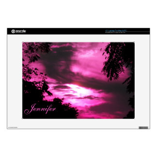 Pink Clouded Sky Decals For Laptops