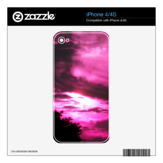 Pink Clouded Sky Skin For The iPhone 4S