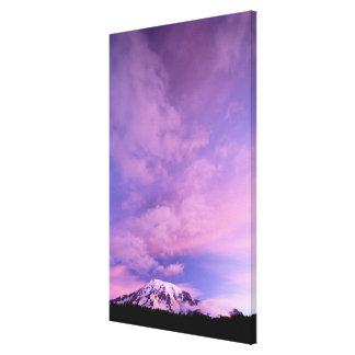 Pink Clouds Above Mount Rainier Canvas Print