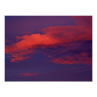 Pink Clouds at Sunset Print