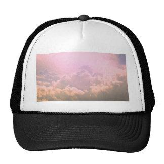 Pink clouds trucker hats