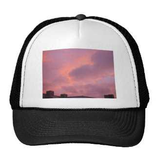 Pink Clouds In The Sunset Mesh Hat