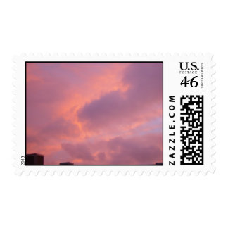 Pink Clouds In The Sunset Postage